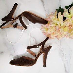 TED BAKER  Embroidered Strappy Heels
